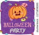 halloween party illustration... | Shutterstock .eps vector #1171858000