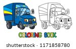 funny small truck or lorry with ...   Shutterstock .eps vector #1171858780