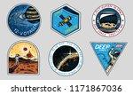 vintage space logo. exploration ... | Shutterstock .eps vector #1171867036