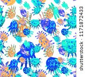 creative seamless pattern with... | Shutterstock . vector #1171872433