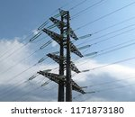 power line support against the... | Shutterstock . vector #1171873180