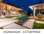 real estate interior and... | Shutterstock . vector #1171874563