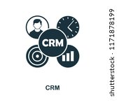 crm icon. monochrome style...   Shutterstock .eps vector #1171878199