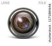 set camera lens object glass... | Shutterstock .eps vector #1171884646