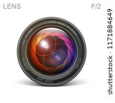 set camera lens object glass... | Shutterstock .eps vector #1171884649