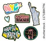 trendy set design colorful... | Shutterstock .eps vector #1171884796