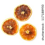 Dried Oranges  Top View
