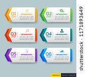 infographics design template 3d ... | Shutterstock .eps vector #1171893649