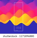 abstract wavy background with... | Shutterstock .eps vector #1171896880