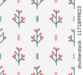 seamless winter pattern with...   Shutterstock .eps vector #1171899823