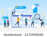 job search. recruitment. head... | Shutterstock .eps vector #1171902040