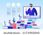 online education and graduation.... | Shutterstock .eps vector #1171902043