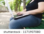 sedentary work  stress ... | Shutterstock . vector #1171907080