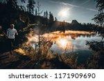 athlete trailrunning in the...   Shutterstock . vector #1171909690