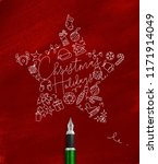 christmas tree toy star... | Shutterstock . vector #1171914049