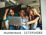 shot of a group of happy... | Shutterstock . vector #1171914283