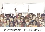 diverse group of people holding ... | Shutterstock .eps vector #1171923970