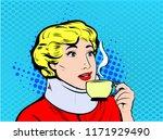 scared woman wearing neck brace ...   Shutterstock .eps vector #1171929490