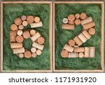 number 62  sixty two  made of... | Shutterstock . vector #1171931920