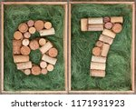 number 67  sixty seven made of... | Shutterstock . vector #1171931923