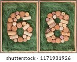 number 68  sixty eight  made of ... | Shutterstock . vector #1171931926