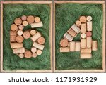 number 64  sixty four  made of... | Shutterstock . vector #1171931929
