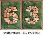 number 63  sixty three  made of ... | Shutterstock . vector #1171931950