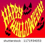 happy halloween 2018 with scary ... | Shutterstock .eps vector #1171934053