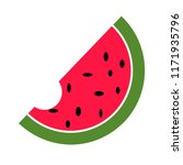 watermelon  vector icon flat... | Shutterstock .eps vector #1171935796