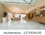 Stock photo hotel reception area desk 1171936150