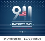 9 11 memorial  patriot day card ... | Shutterstock .eps vector #1171940506