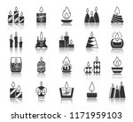 candle flame silhouette icons... | Shutterstock .eps vector #1171959103