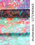 abstract  hand painted colorful ... | Shutterstock . vector #1171960663