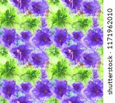 floral watercolor pattern.... | Shutterstock . vector #1171962010