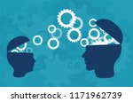 knowledge transfer concept.... | Shutterstock .eps vector #1171962739