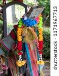 a close up of a garland hanging ... | Shutterstock . vector #1171967713