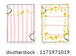 gold glitter sequins with dots. ... | Shutterstock .eps vector #1171971019
