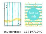 gold glitter sequins with dots. ... | Shutterstock .eps vector #1171971040
