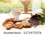 Close Up Set Of Black Coffee I...