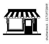 store shop building in black... | Shutterstock .eps vector #1171972849