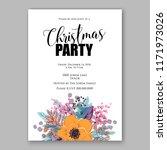 floral background for wedding... | Shutterstock .eps vector #1171973026