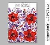 floral background for wedding... | Shutterstock .eps vector #1171973110