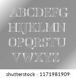 gray alphabet on an isolated... | Shutterstock .eps vector #1171981909