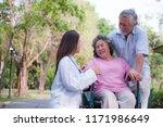 senior man caring for disabled...   Shutterstock . vector #1171986649