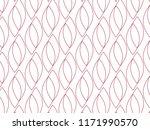 repeating red petals vector... | Shutterstock .eps vector #1171990570