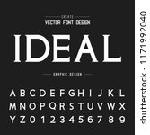 font and alphabet vector  idia... | Shutterstock .eps vector #1171992040