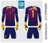 goalkeeper jersey or soccer kit ... | Shutterstock .eps vector #1171994689