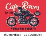 cafe racer t shirt design in... | Shutterstock .eps vector #1172008069