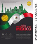 mexico happy independence day...   Shutterstock .eps vector #1172008786