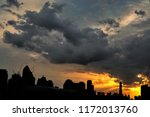 silhouette city with twilight... | Shutterstock . vector #1172013760